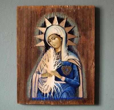 Ikona Matka Boża i drzewo