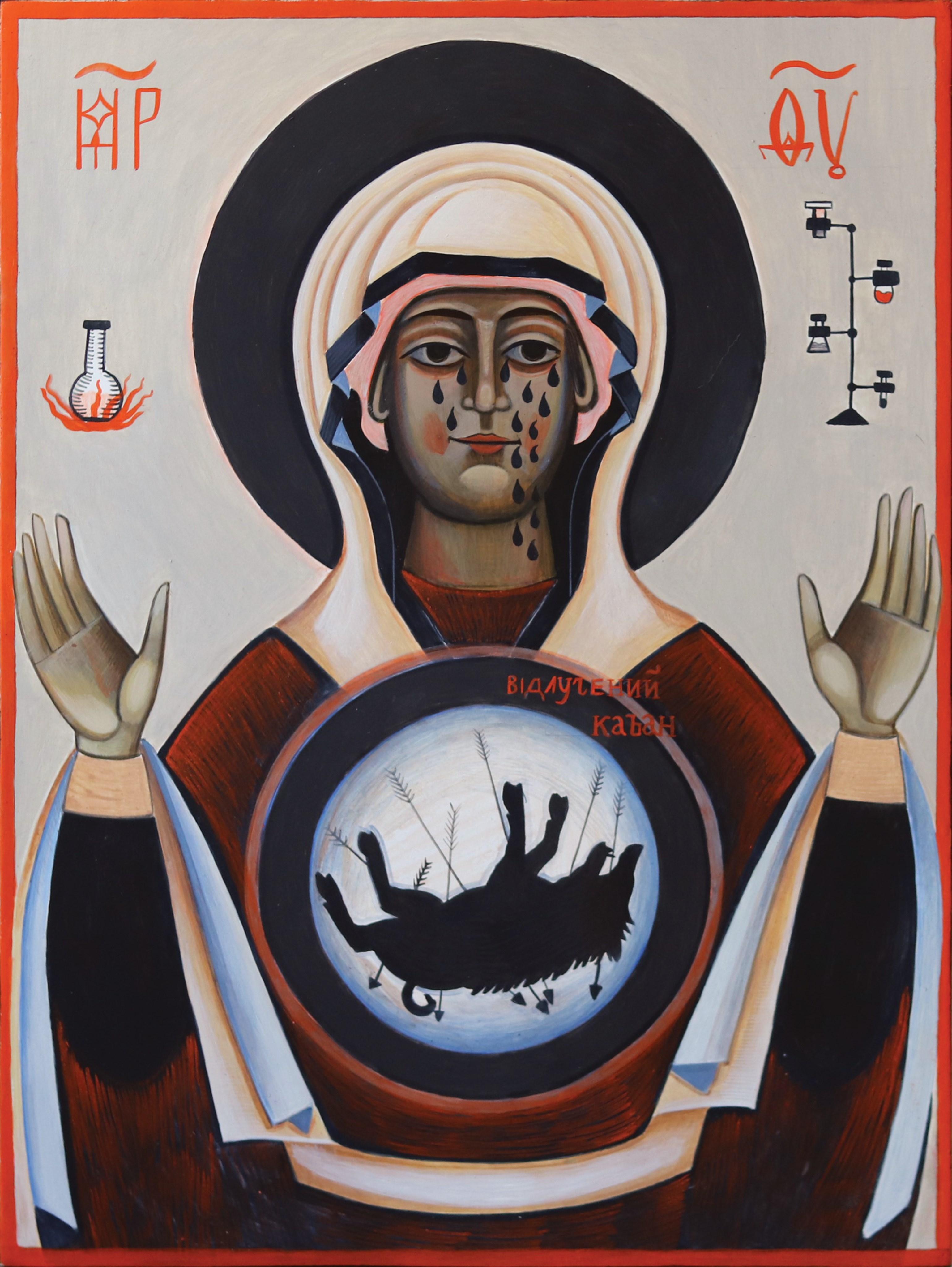 ikona matka boża z dzikiem